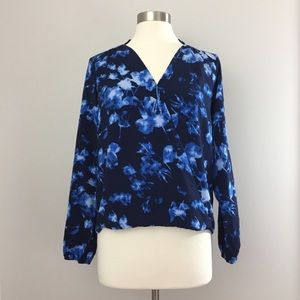 Vince Camuto Floral Wrap Top NEW